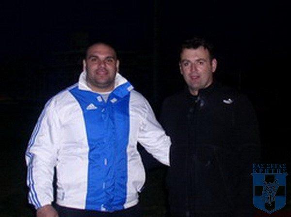 Ανδρέας Αναστασόπουλος με τον Σπύρο Αραμπατζή